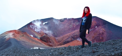 Steffi enjoying Etna, Sicily!